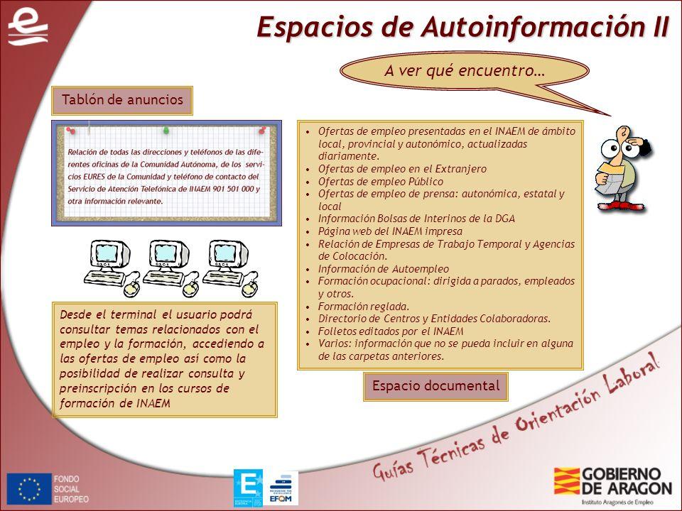Espacios de Autoinformación II