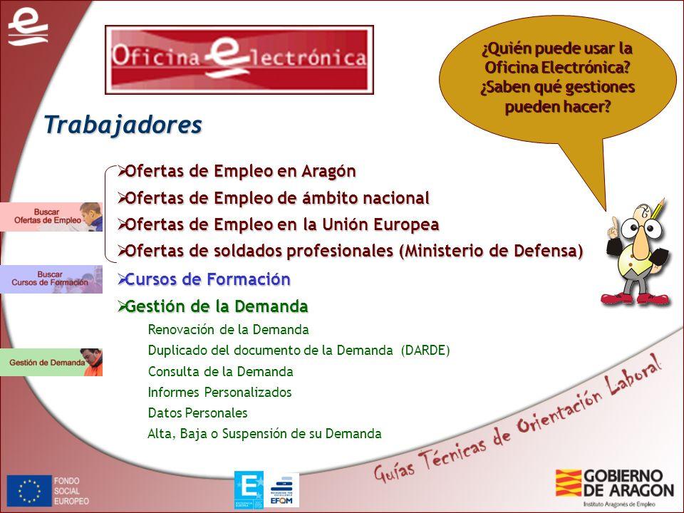 Trabajadores Ofertas de Empleo en Aragón