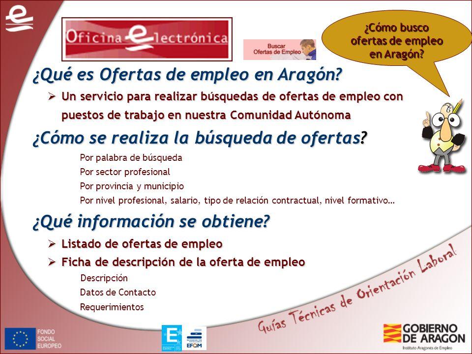 ¿Cómo busco ofertas de empleo en Aragón