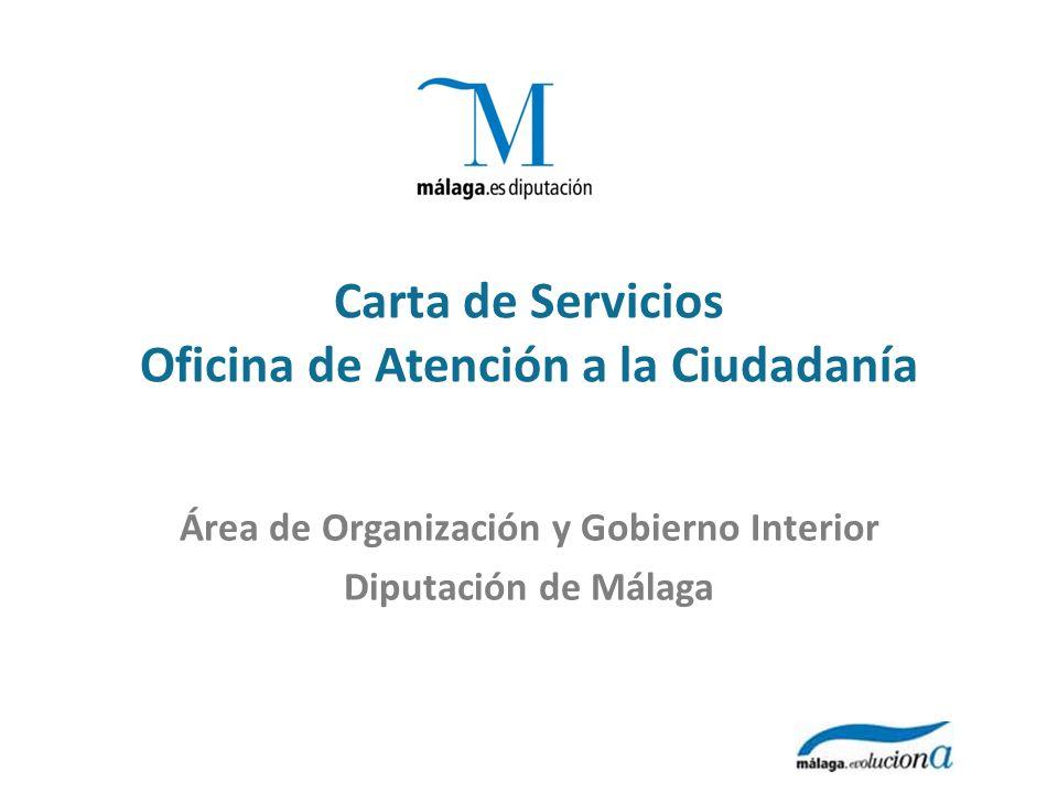 Carta de Servicios Oficina de Atención a la Ciudadanía