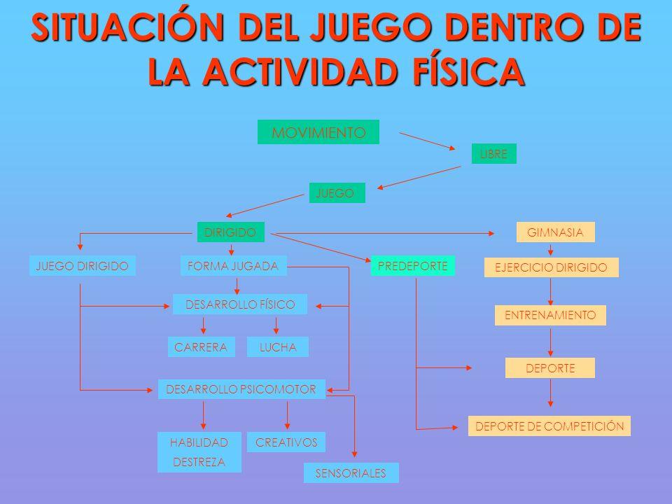 SITUACIÓN DEL JUEGO DENTRO DE LA ACTIVIDAD FÍSICA