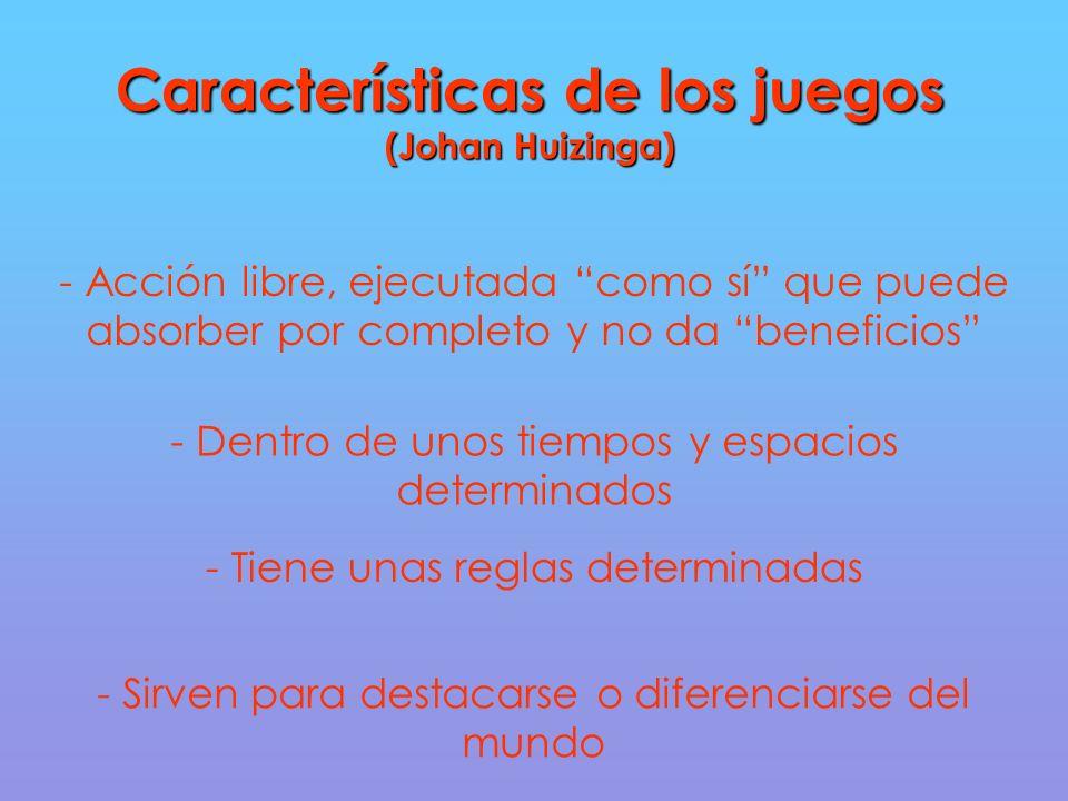 Características de los juegos (Johan Huizinga)