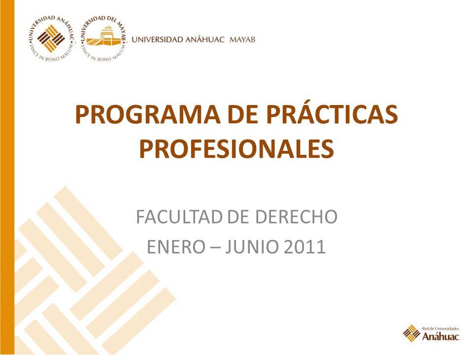 PROGRAMA DE PRÁCTICAS PROFESIONALES