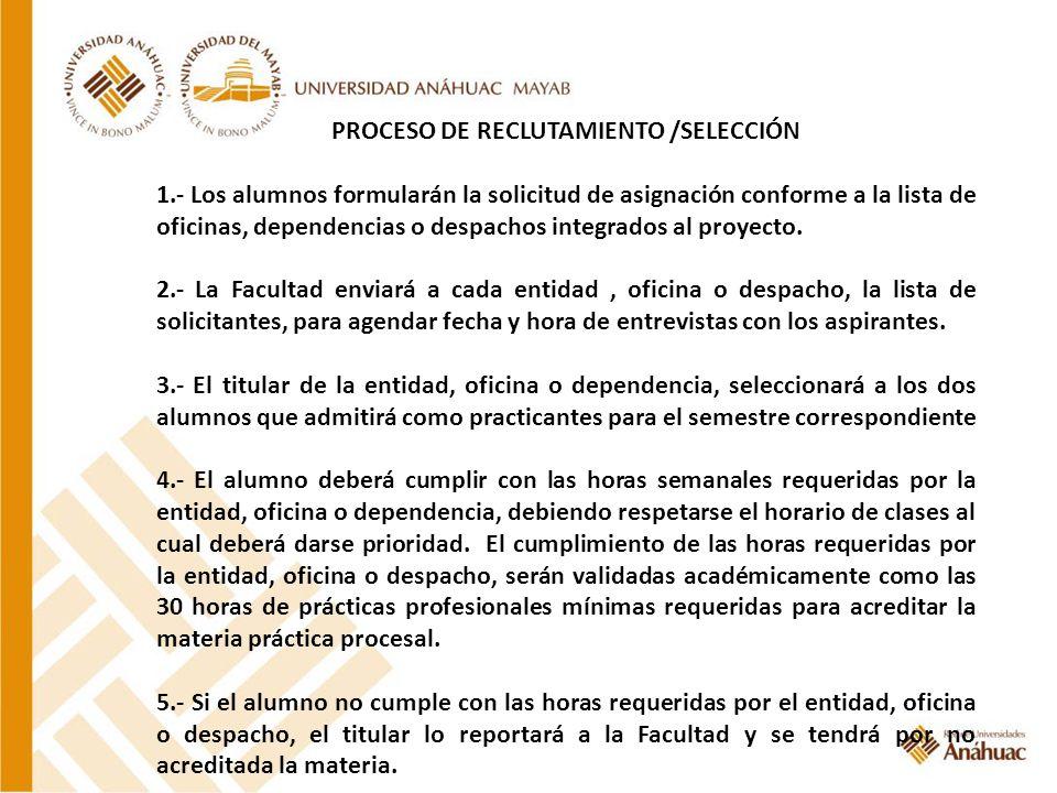 PROCESO DE RECLUTAMIENTO /SELECCIÓN