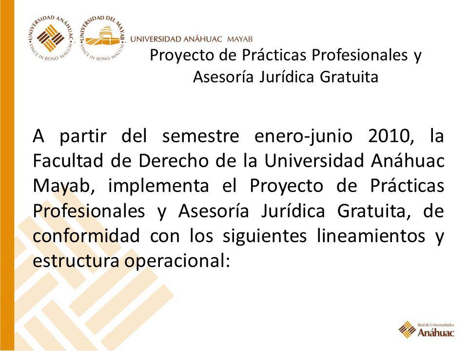 Proyecto de Prácticas Profesionales y Asesoría Jurídica Gratuita