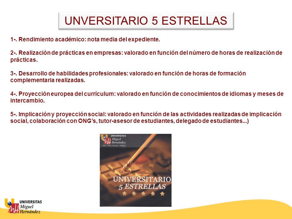 UNVERSITARIO 5 ESTRELLAS