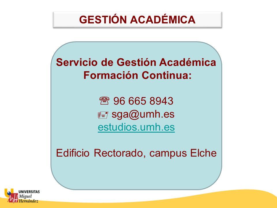 Servicio de Gestión Académica