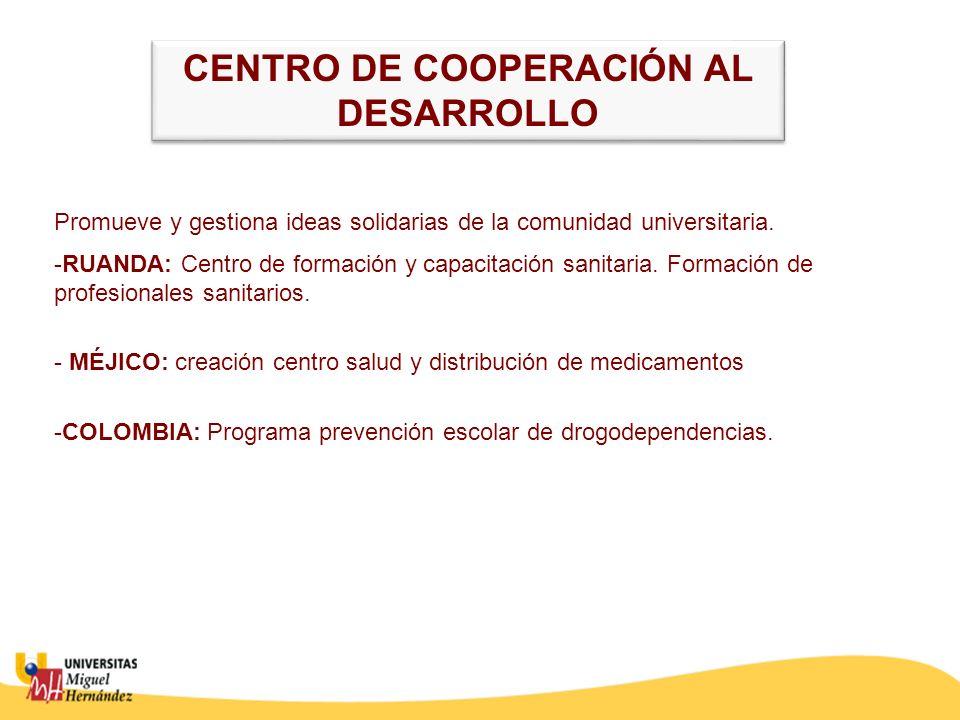 CENTRO DE COOPERACIÓN AL DESARROLLO