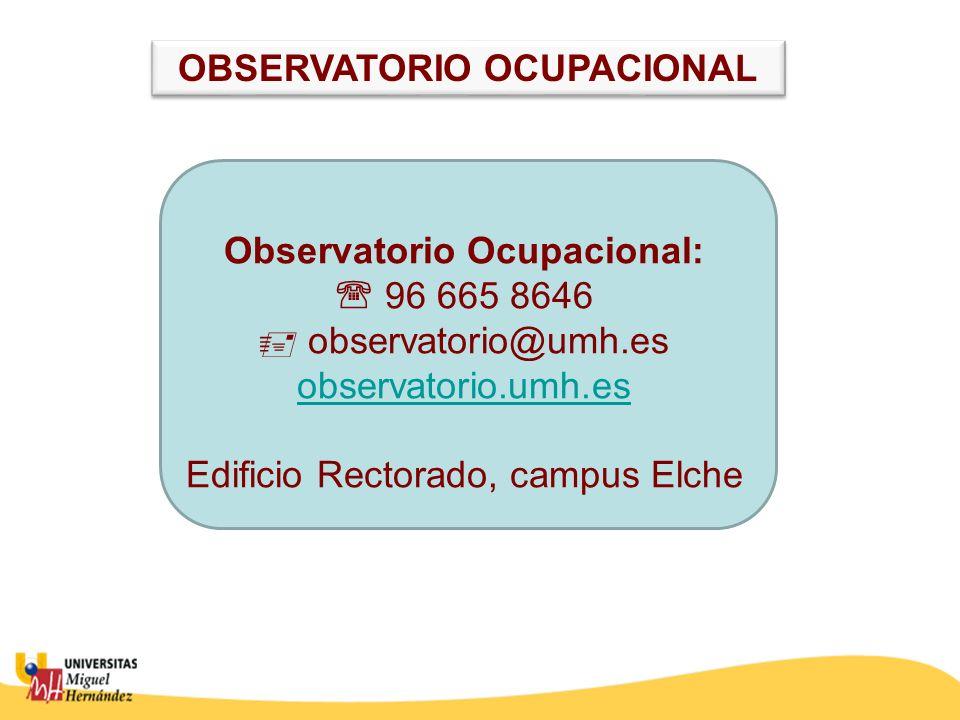 OBSERVATORIO OCUPACIONAL