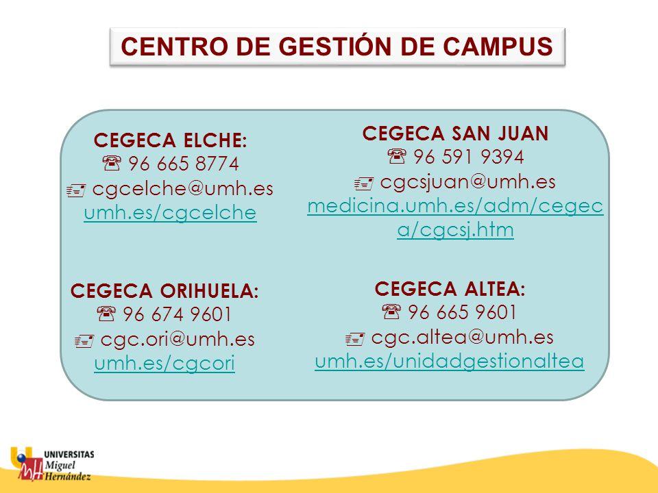 CENTRO DE GESTIÓN DE CAMPUS