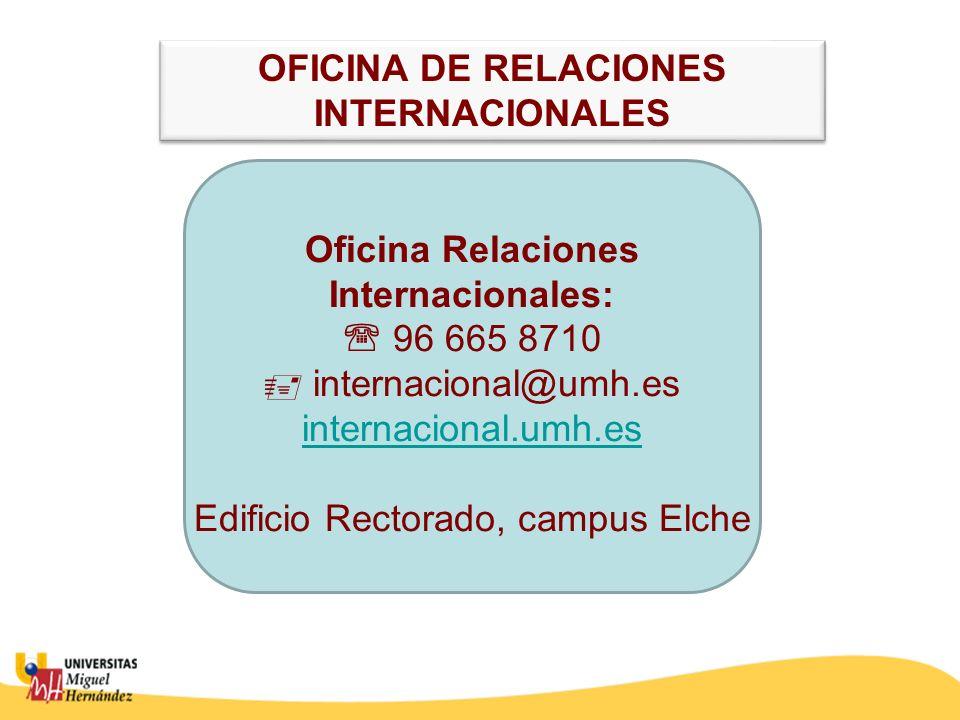 OFICINA DE RELACIONES INTERNACIONALES