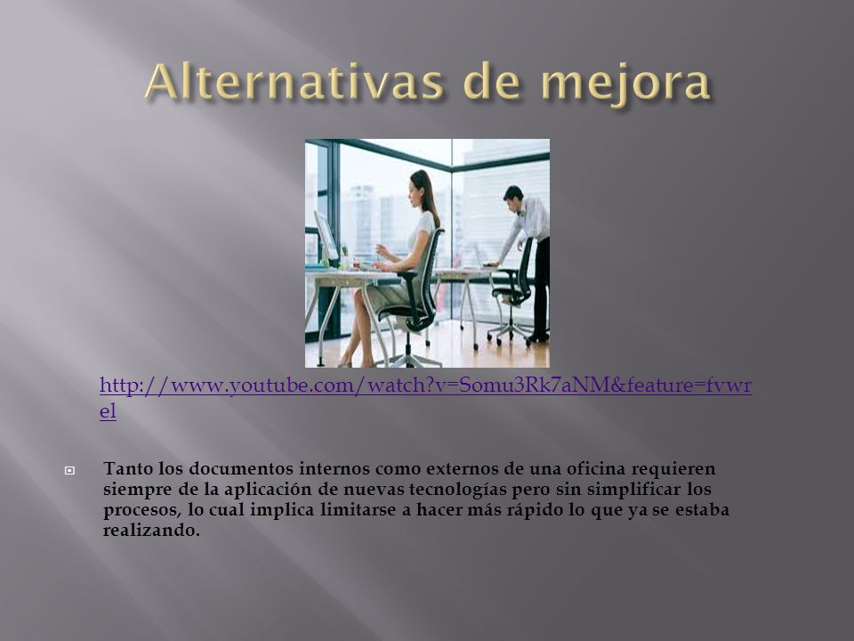 Alternativas de mejora