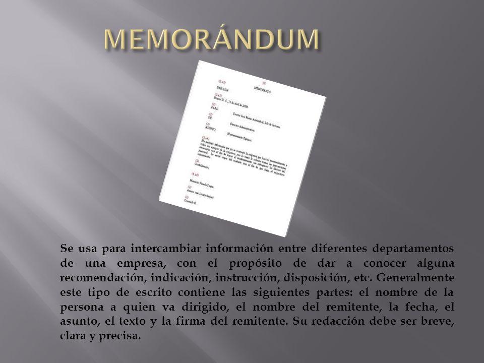 MEMORÁNDUM
