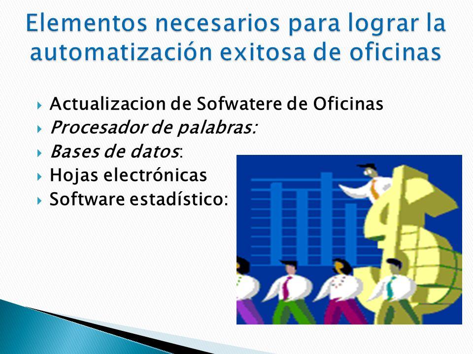 Elementos necesarios para lograr la automatización exitosa de oficinas