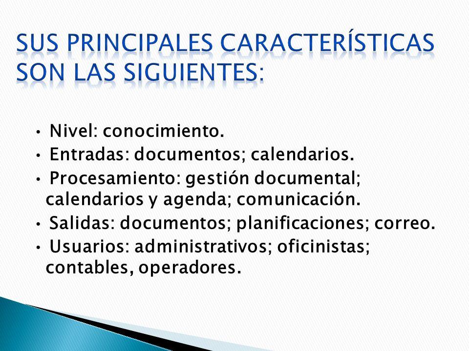 Sus principales características son las Siguientes: