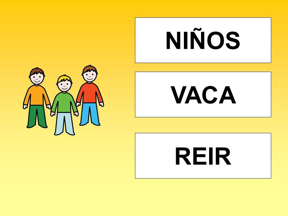 NIÑOS VACA REIR