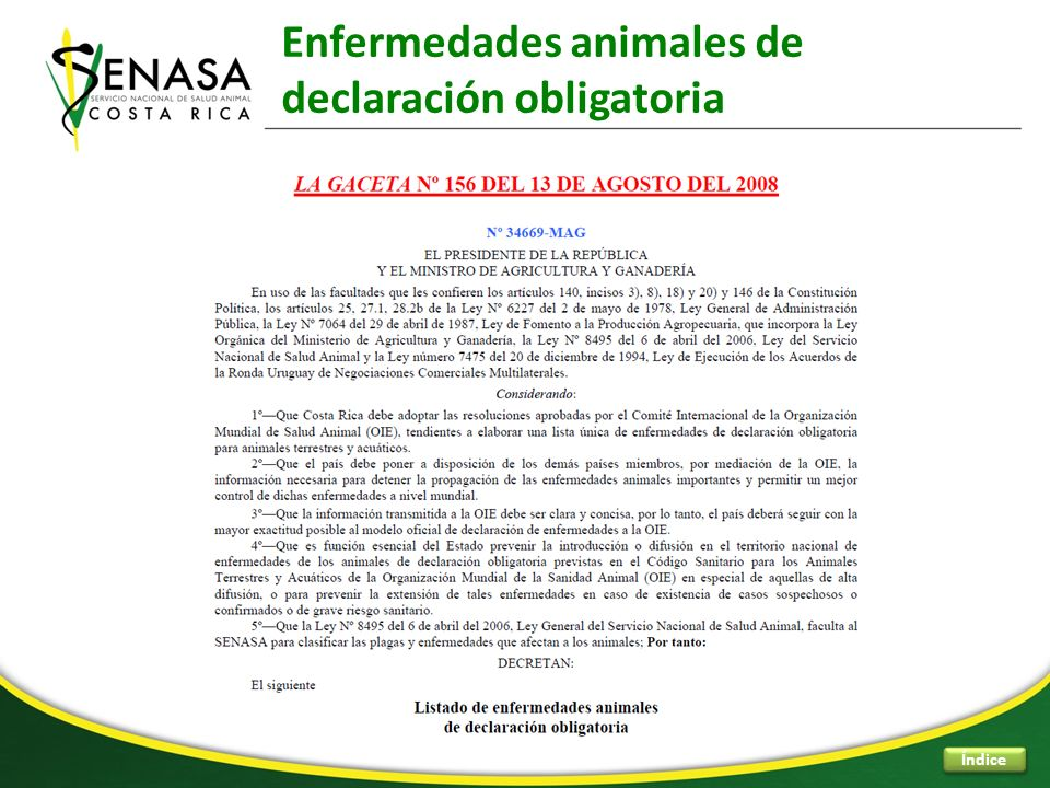 Enfermedades animales de declaración obligatoria