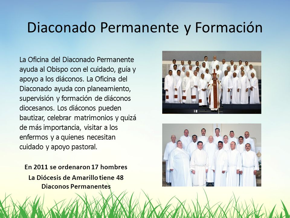 Diaconado Permanente y Formación