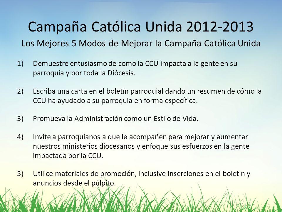 Campaña Católica Unida 2012-2013