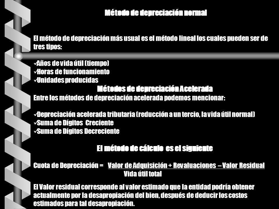 Método de depreciación normal