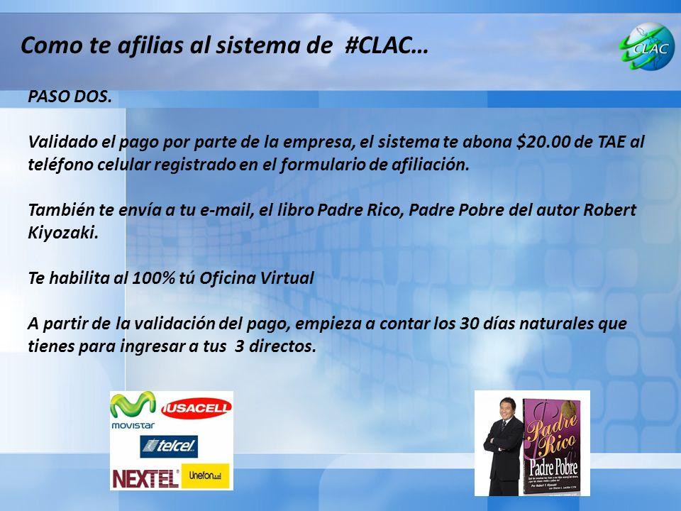 Como te afilias al sistema de #CLAC…