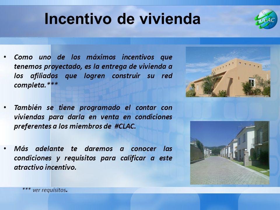 Incentivo de vivienda