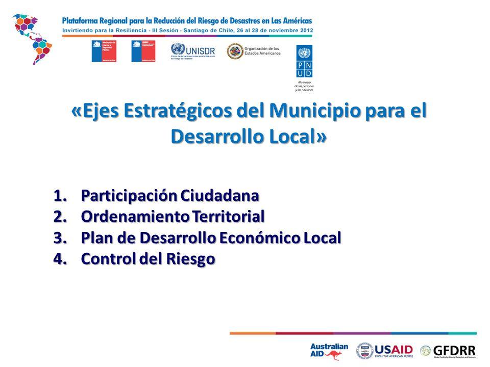 «Ejes Estratégicos del Municipio para el Desarrollo Local»
