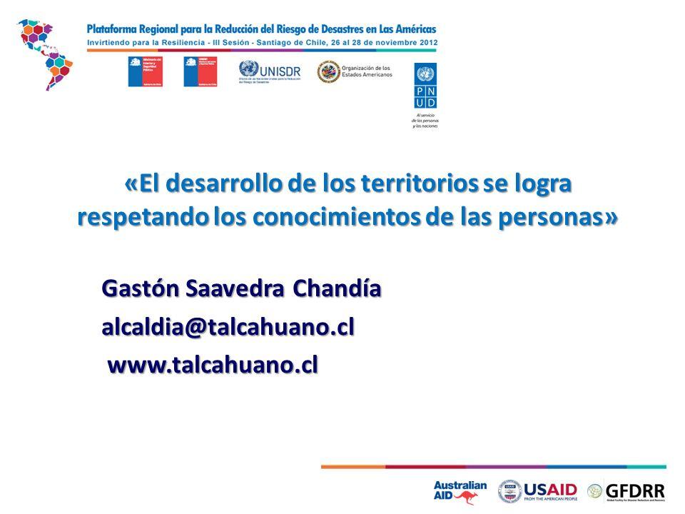 Gastón Saavedra Chandía alcaldia@talcahuano.cl www.talcahuano.cl