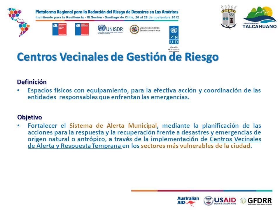 Centros Vecinales de Gestión de Riesgo