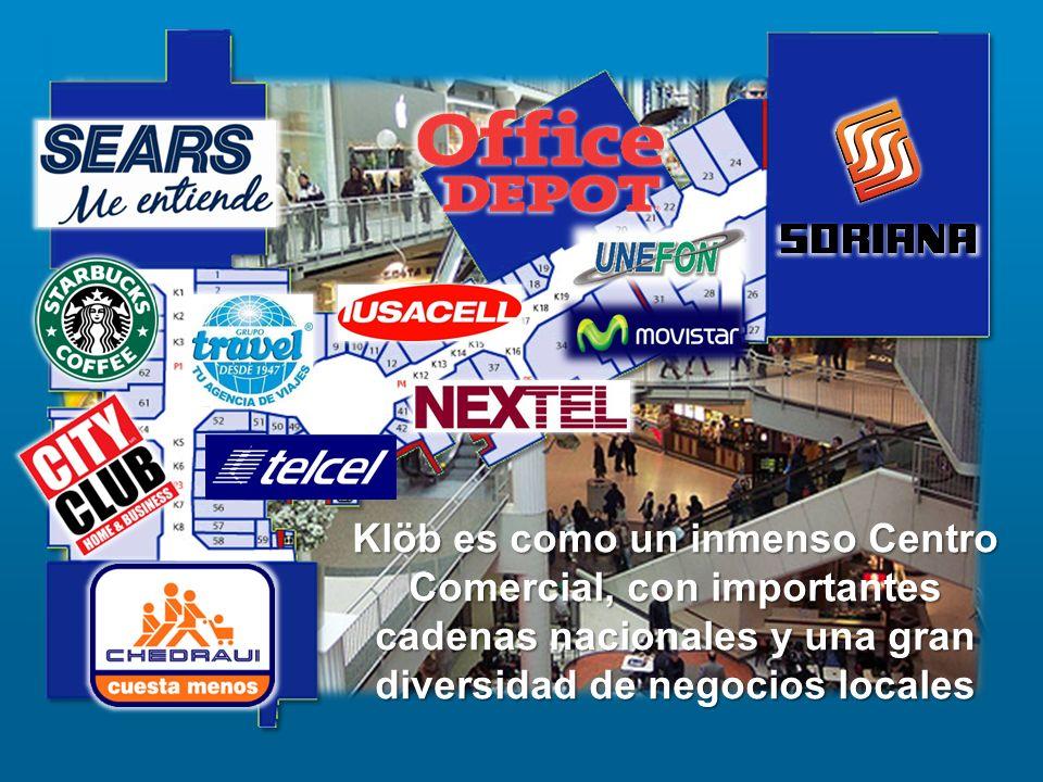Klöb es como un inmenso Centro Comercial, con importantes cadenas nacionales y una gran diversidad de negocios locales