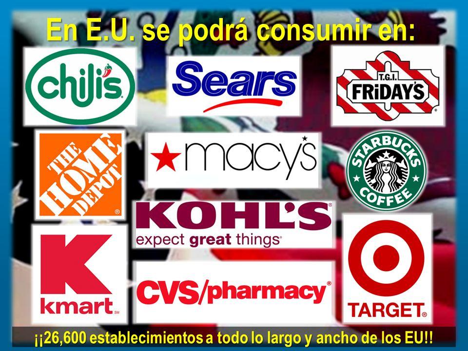 En E.U. se podrá consumir en: