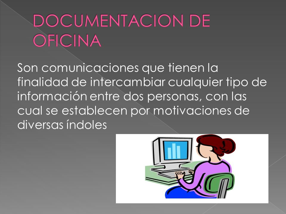 DOCUMENTACION DE OFICINA