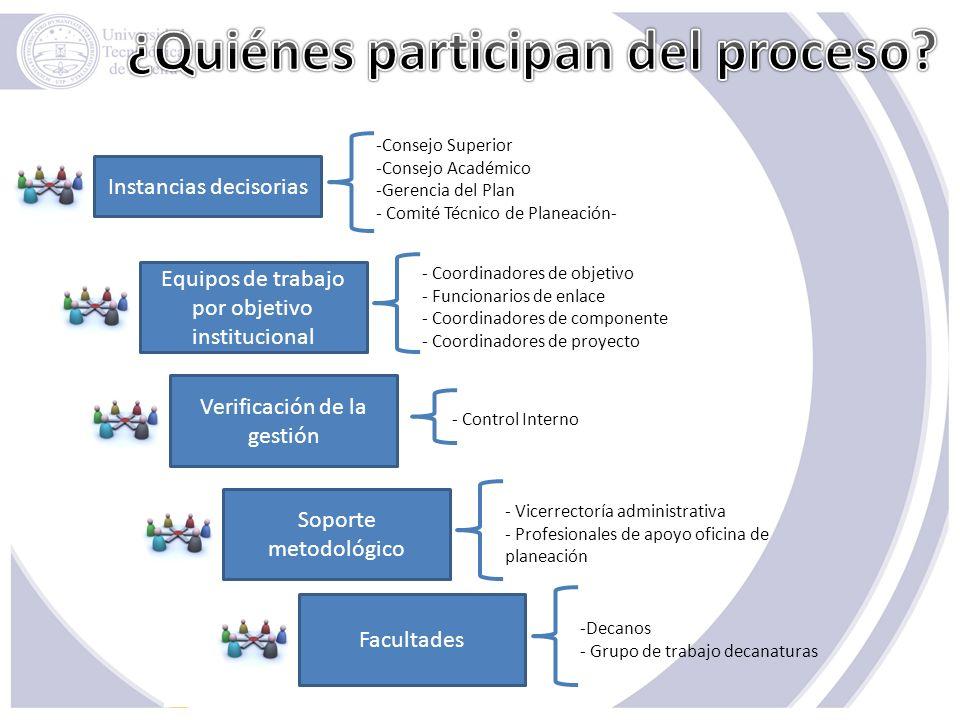 ¿Quiénes participan del proceso