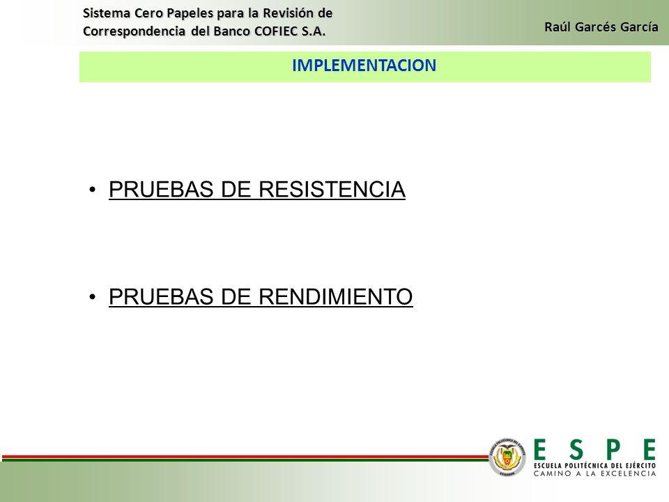 PRUEBAS DE RESISTENCIA