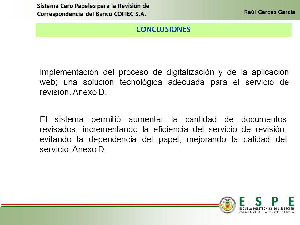 Sistema Cero Papeles para la Revisión de Correspondencia del Banco COFIEC S.A.