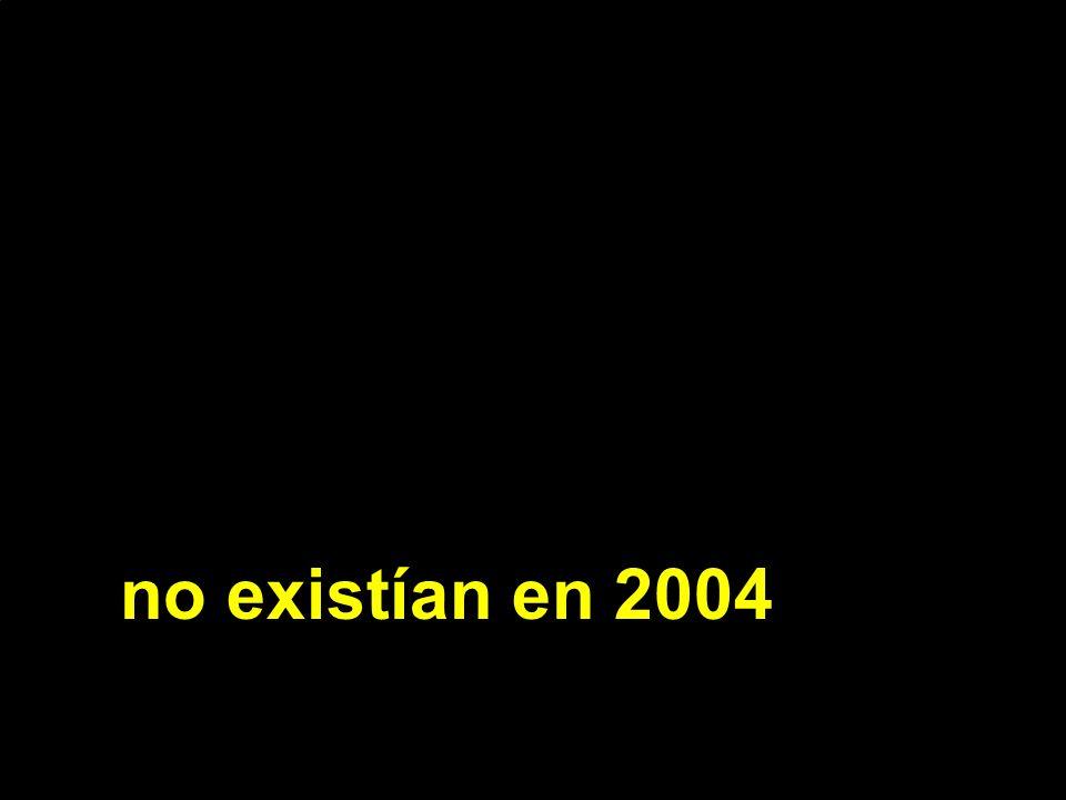 no existían en 2004