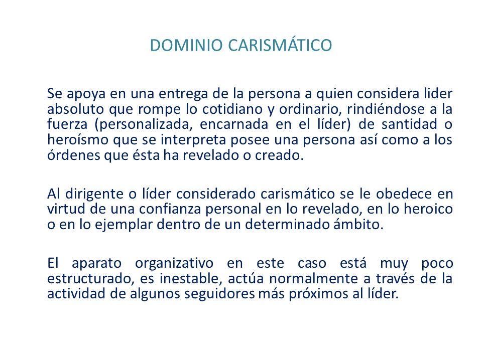 DOMINIO CARISMÁTICO