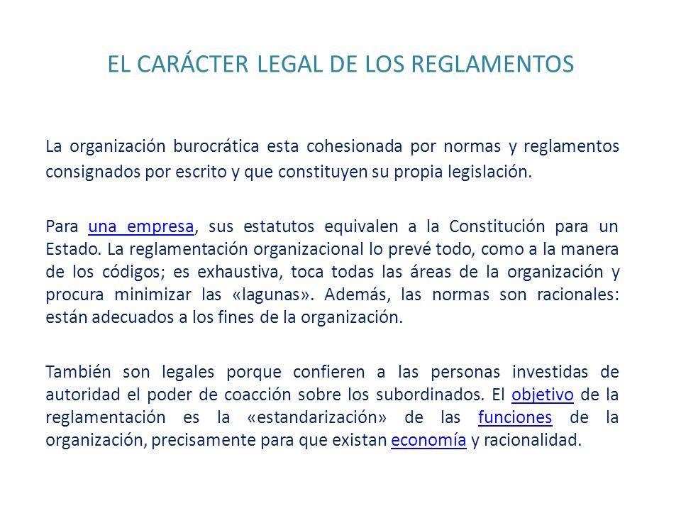 EL CARÁCTER LEGAL DE LOS REGLAMENTOS