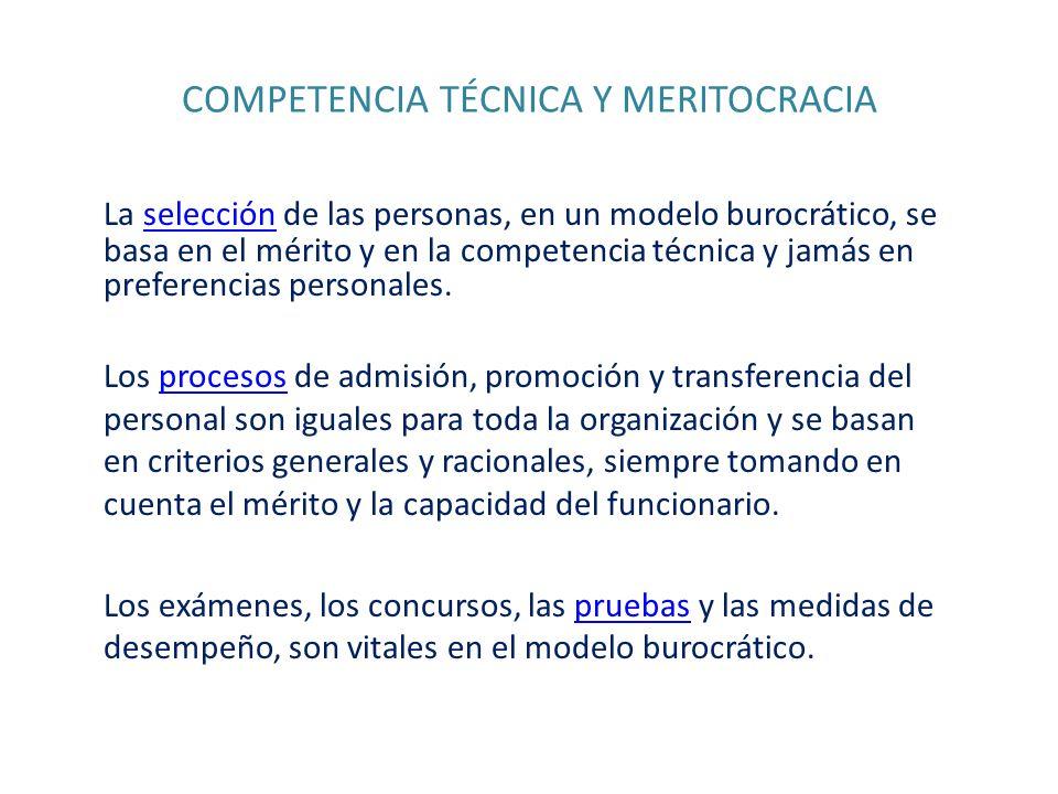 COMPETENCIA TÉCNICA Y MERITOCRACIA