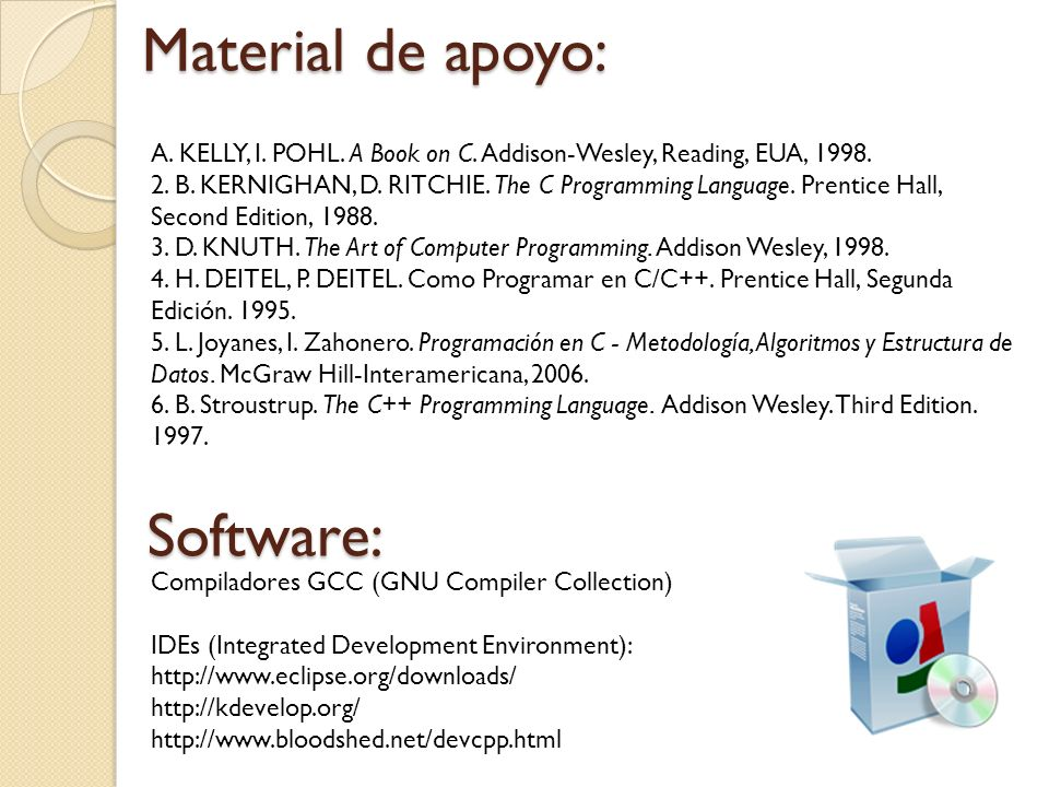 Material de apoyo: Software: