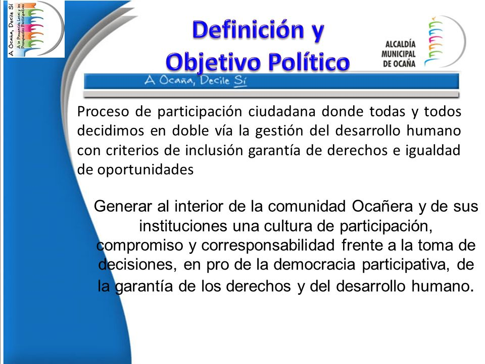 Definición y Objetivo Político