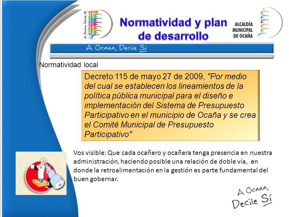 Normatividad y plan de desarrollo