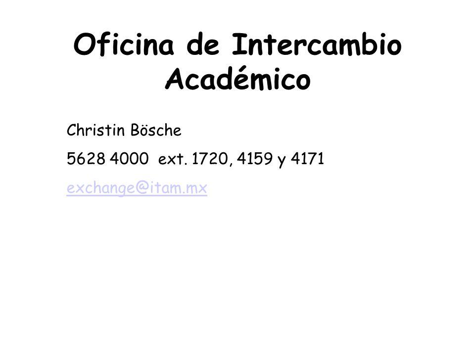 Oficina de Intercambio Académico
