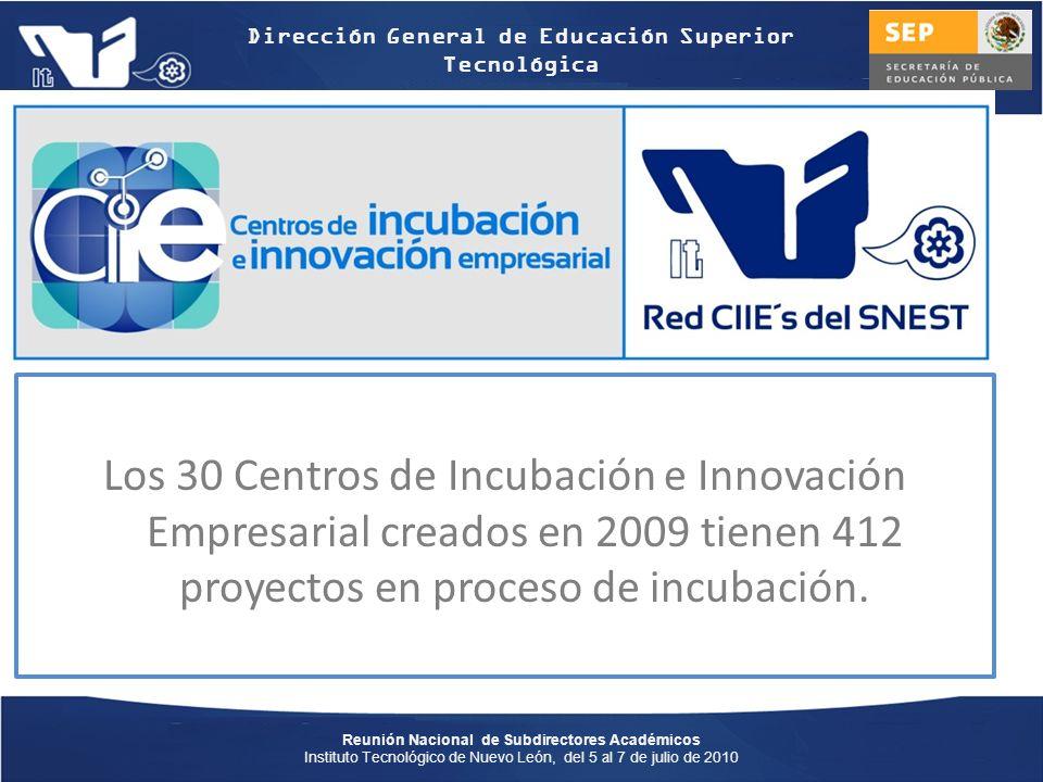 Los 30 Centros de Incubación e Innovación Empresarial creados en 2009 tienen 412 proyectos en proceso de incubación.