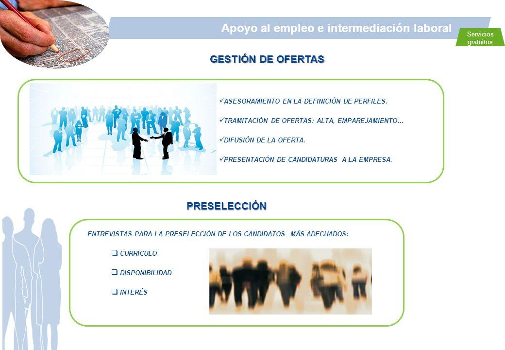 Apoyo al empleo e intermediación laboral