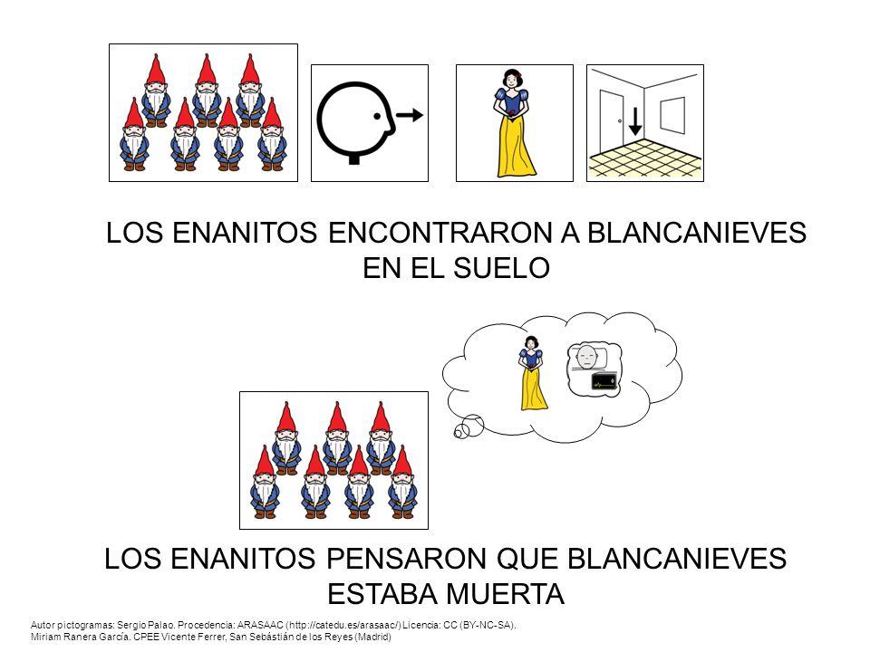 LOS ENANITOS ENCONTRARON A BLANCANIEVES EN EL SUELO
