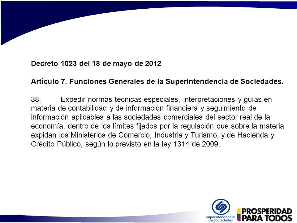 Artículo 7. Funciones Generales de la Superintendencia de Sociedades.