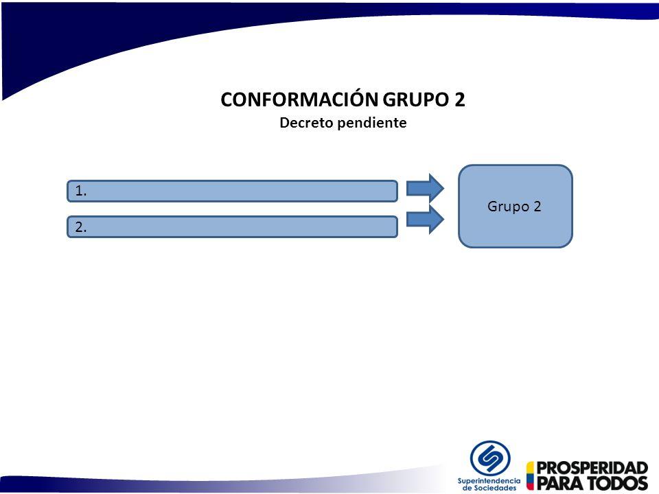 CONFORMACIÓN GRUPO 2 Decreto pendiente