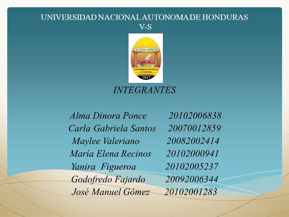 UNIVERSIDAD NACIONAL AUTONOMA DE HONDURAS V-S