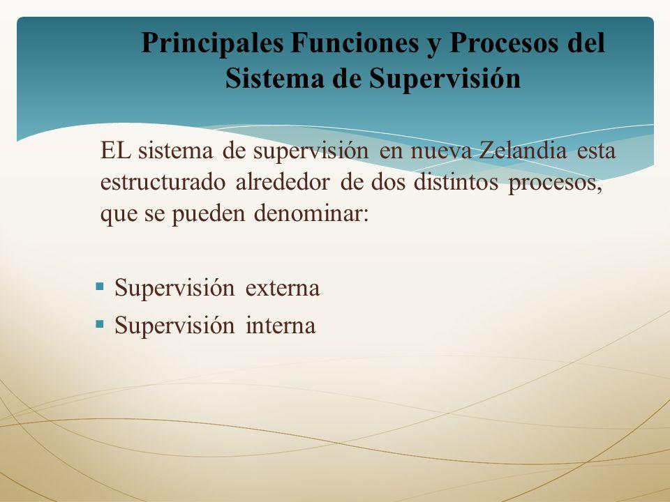 Principales Funciones y Procesos del Sistema de Supervisión